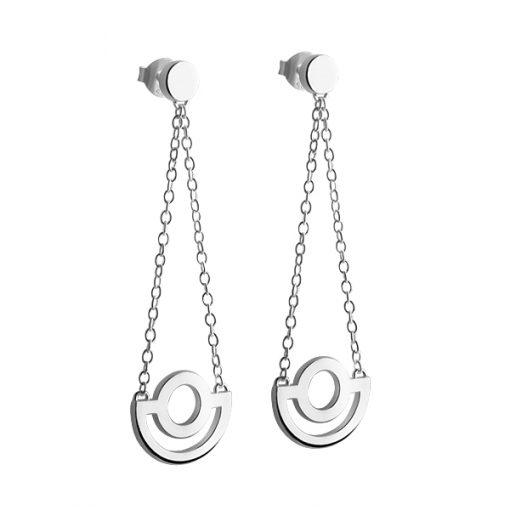 Arc long earrings