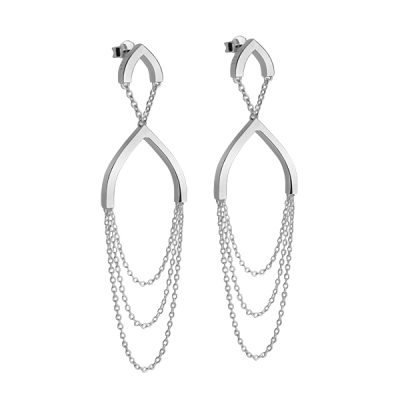 Petal: tri earrings