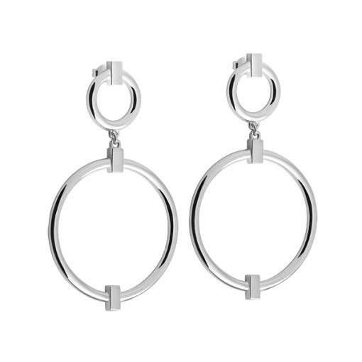 Detail: round grand earrings