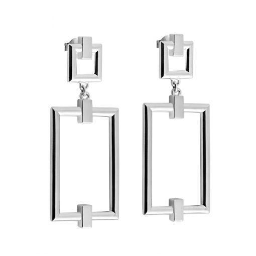 Detail: square grand earrings