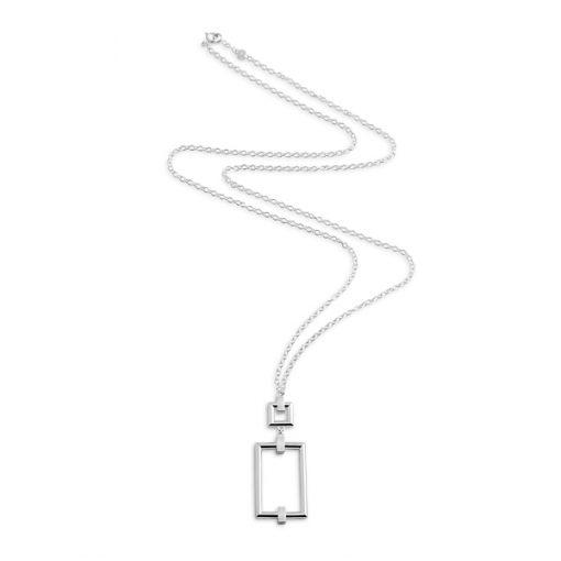 Detail: square long necklace